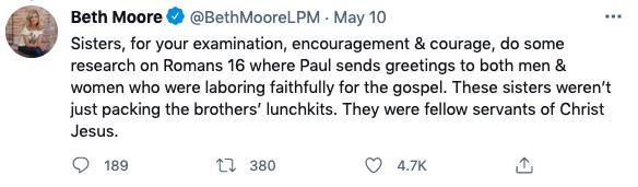 Beth Moore Tweet